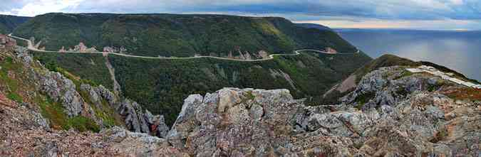 Cabot Trail Cape Breton Island top of hike